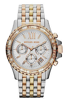 MICHAEL KORS Everest silver face stainless steel watch