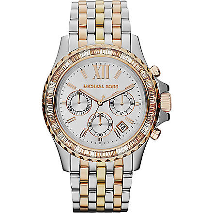 MICHAEL KORS Everest silver face stainless steel watch (Silver