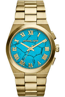 MICHAEL KORS MK5894 gold-tone turquoise watch