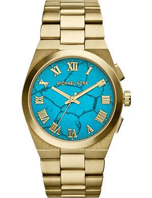 MICHAEL KORS MK5894 gold-tone turquoise watch