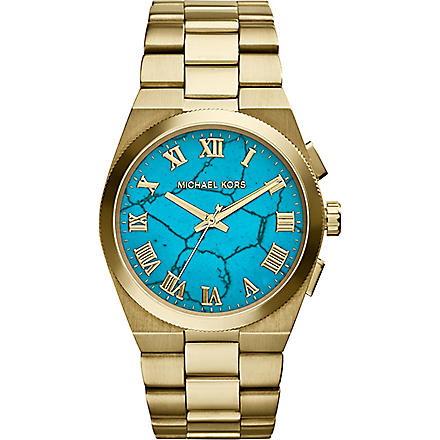 MICHAEL KORS MK5894 gold-tone turquoise watch (Torquoise