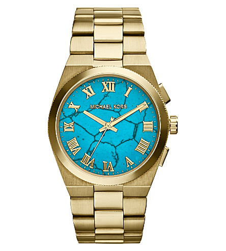 MICHAEL KORS MK5894 Channing gold-tone stainless steel watch (Torquoise