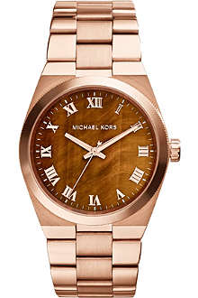 MICHAEL KORS MK5895 rose gold-tone brown watch