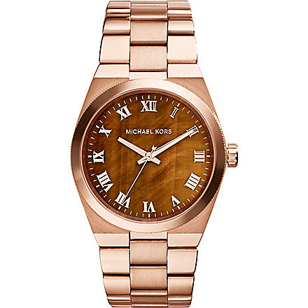 MICHAEL KORS MK5895 rose gold-tone brown watch (Tigers