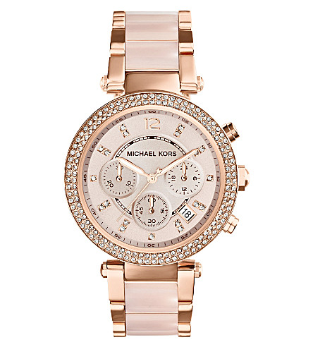 MICHAEL KORS MK5896 Parker rose gold-tone watch (Gold