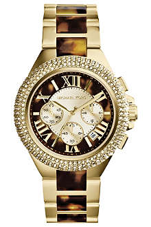 MICHAEL KORS MK5901 Camille tortoiseshell two-tone watch