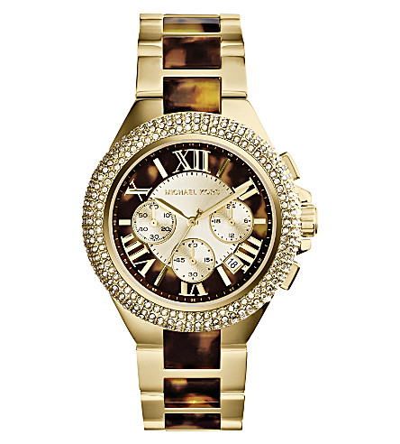 MICHAEL KORS MK5901 Camille tortoiseshell two-tone watch (Tort
