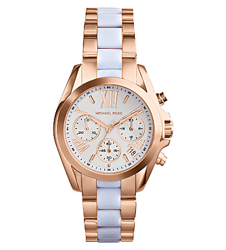 MICHAEL KORS MK5907 Mini Bradshaw two-tone watch (White