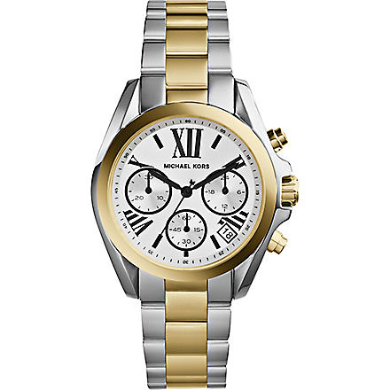 MICHAEL KORS MK5912 Mini Bradshaw two-tone watch (White