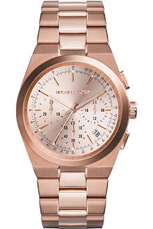MICHAEL KORS MK5927 Channing rose gold-toned stainless steel chronograph watch