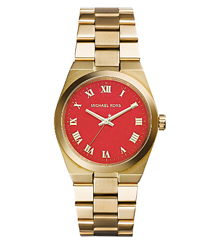 MICHAEL KORS MK5936 Brooks gold-toned stainless steel watch (Gold