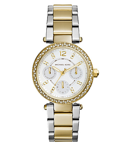MICHAEL KORS Ladies mini parker watch mk6055 (White