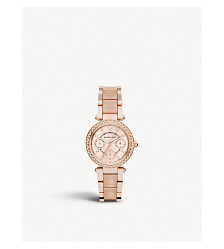 MICHAEL KORS Ladies mini parker watch mk6110 (Rose+gold