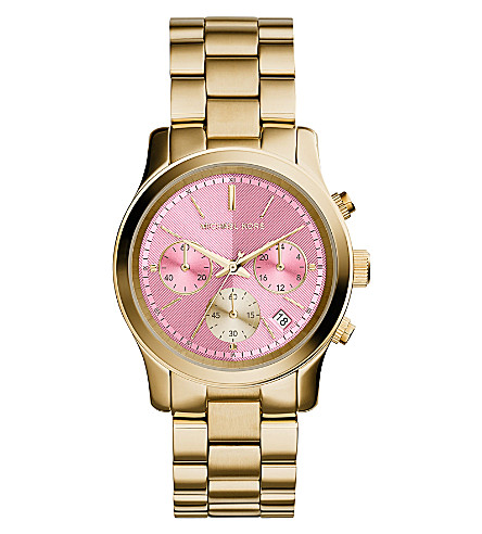 MICHAEL KORS MK6161 Runway gold-plated stainless steel watch (Pink