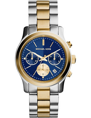 MICHAEL KORS MK6165 Runway yellow gold-plated and stainless steel watch