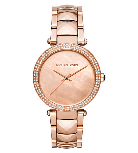 MICHAEL KORS MK6426 Parker rose gold-toned stainless steel watch