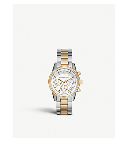 MICHAEL KORS MK6474 gold-plated pavé watch