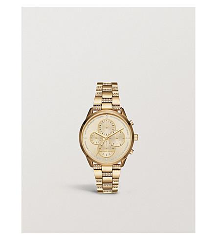 MICHAEL KORS MK6519 Slater gold-toned stainless steel bracelet chronograph watch