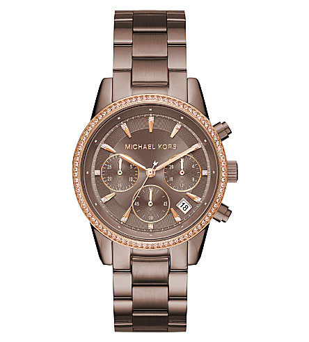 MICHAEL KORS MK6529 Ritz rose gold-toned stainless steel watch
