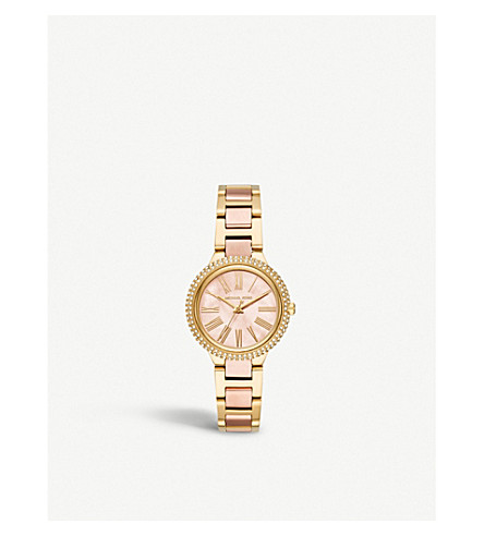 MICHAEL KORS MK6564 Taryn two-tone stainless steel and mother-of-pearl watch