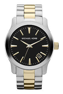 MICHAEL KORS MK7064 Stainless steel and gold-plated watch