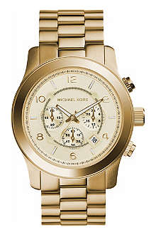 MICHAEL KORS MK8077 Gold-plated chronograph watch