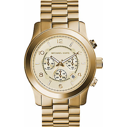MICHAEL KORS MK8077 Gold-plated chronograph watch (Gold