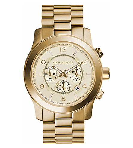 MICHAEL KORS MK8077 Runway gold-plated watch (Gold