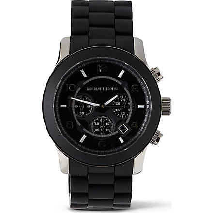 MICHAEL KORS MK8107 Steel and plastic unisex watch (Black