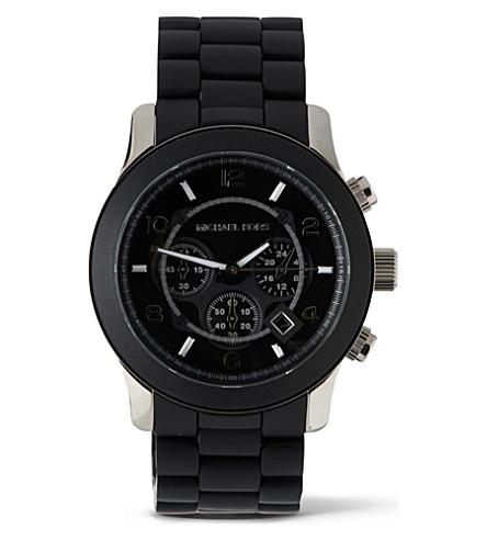 MICHAEL KORS MK8107 Steel and plastic unisex watch (Black