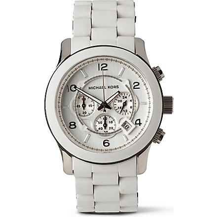 MICHAEL KORS MK8108 chronograph watch (White