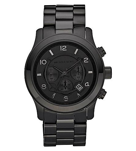 MICHAEL KORS MK8157 Runway stainless steel watch (Black