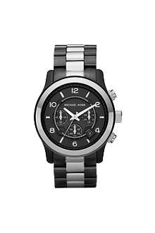 MICHAEL KORS MK8182 Black and silver chronograph watch