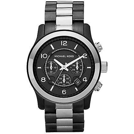 MICHAEL KORS MK8182 Black and silver chronograph watch (Black
