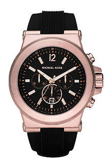 MICHAEL KORS Dylan silicone strap watch