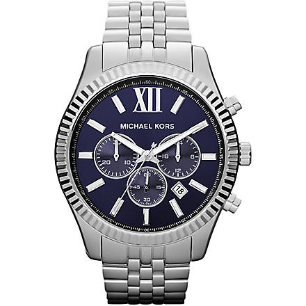 MICHAEL KORS MK8280 Lexington stainless steel chronograph watch (Blue
