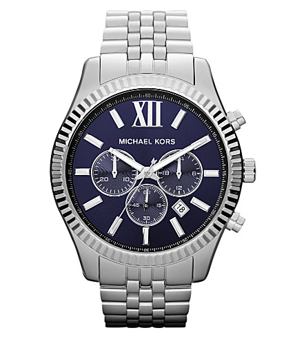 MICHAEL KORS MK8280 Lexington stainless steel watch (Blue