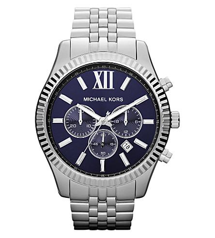 MICHAEL KORS MK8280 Lexington stainless steel watch (Blue