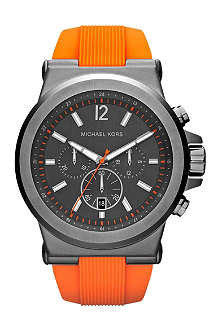 MICHAEL KORS MK8296 steel and silicone chronograph watch