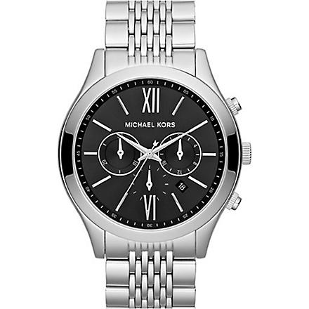 MICHAEL KORS MK8305 Brookton stainless steel chronograph watch (Black