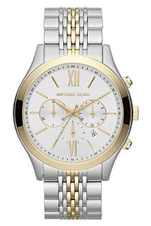 MICHAEL KORS MK8306 Brookton steel and gold-plated chronograph watch