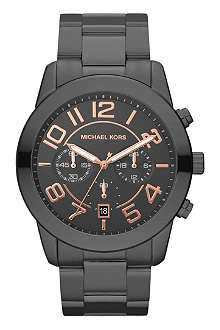 MICHAEL KORS Black stainless steel watch
