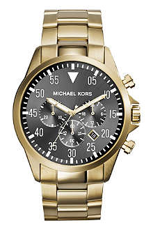 MICHAEL KORS MK8361 Gage gold-toned stainless steel bracelet watch
