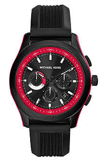 MICHAEL KORS MK8376 Outrigger matte-black stainless steel chronograph watch