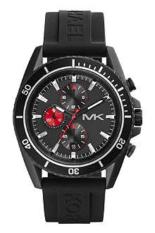 MICHAEL KORS MK8377 Jet Master matte-black staineless steel chronograph watch