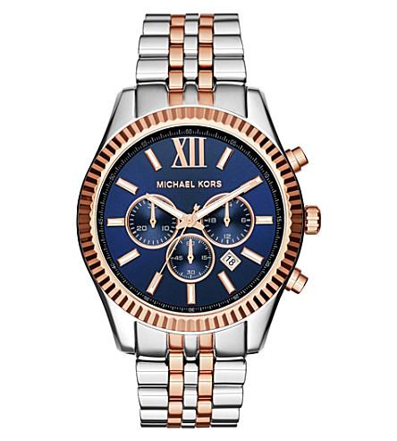 MICHAEL KORS MK8412 lexington stainless steel chronograph watch