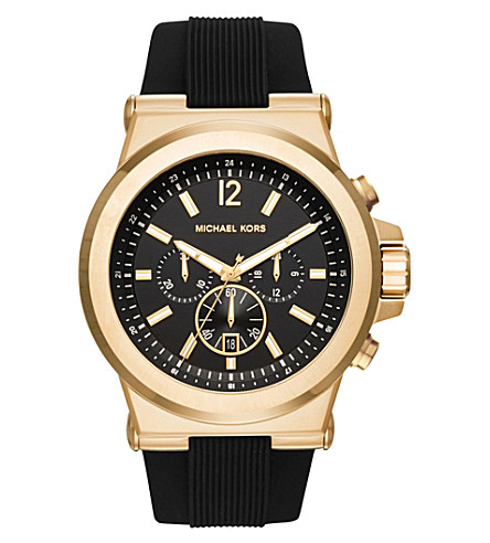 MICHAEL KORS 8445 Dylan gold-toned stainless steel watch (Black