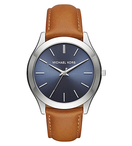 MICHAEL KORS MK8507 Slim runway stainless steel and leather watch