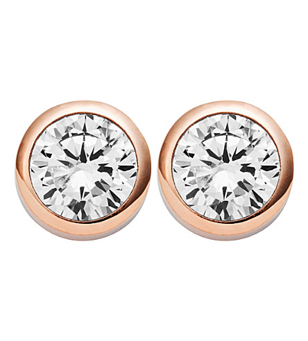 MICHAEL KORS Park Avenue rose-gold stud earrings