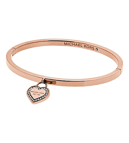 MICHAEL KORS Heritage rose gold-plated stainless steel bangle